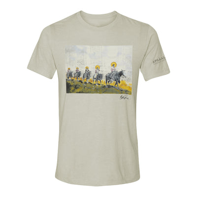 """Sacred Under the Cliffs of Yellowstone"" T-Shirt by Ben Pease 