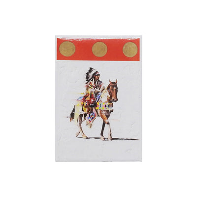 """Motion in Red"" Magnet by Del Curfman 