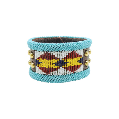 Large Blue & Yellow Bracelet by Birdie Real Bird | Field Museum Store