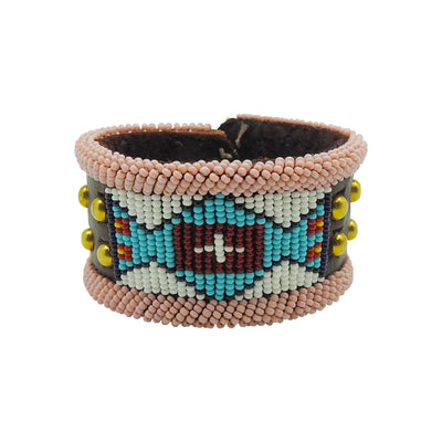 Large Blue & Pink Bracelet by Birdie Real Bird | Field Museum Store