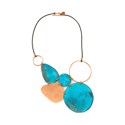 Copper Viridian Leaf Necklace | Field Museum Store