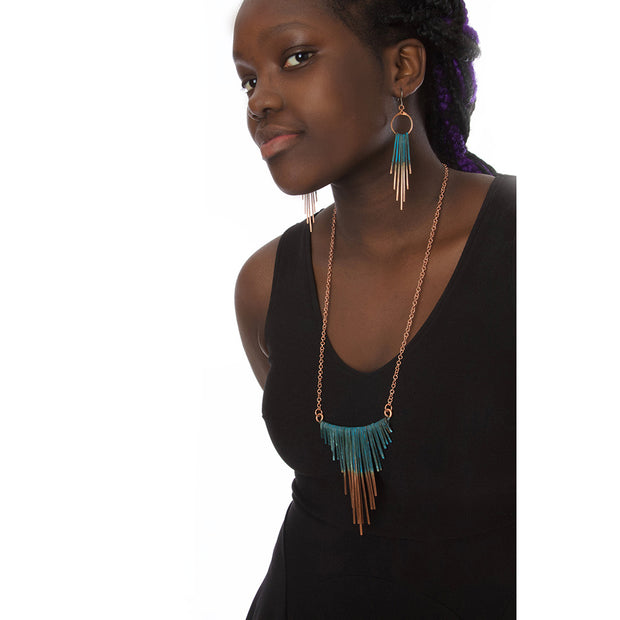 Copper Viridian Fringe Necklace | Field Museum Store
