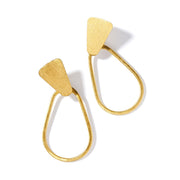 Kaia Gold Hoop Earrings | Field Museum Store