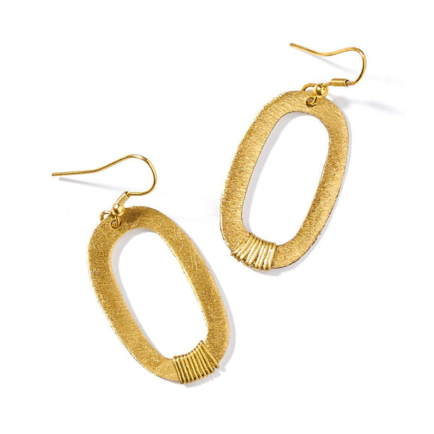 Kaia Gold Link Earrings | Field Museum Store