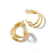 Kaia Gold Link Stud Earrings