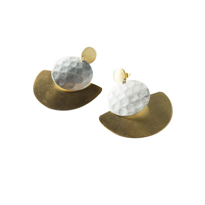 Vitana Deco Disc Earrings | Field Museum Store
