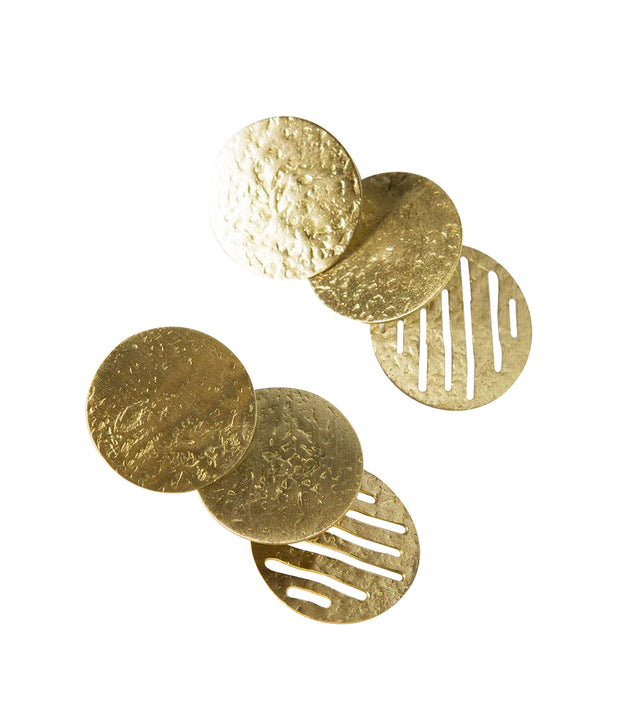 Nihira Gold Coin Earrings | Field Museum Store