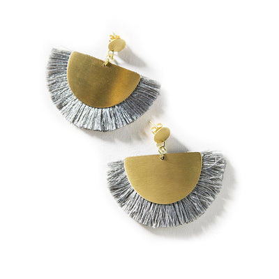Vitana Cosmos Grey Earrings | Field Museum Store