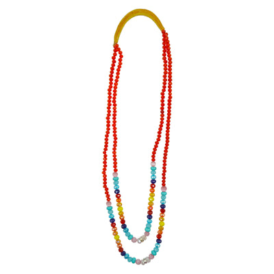Double Strand Rainbow Necklace by Della BigHair-Stump | Field Museum Store