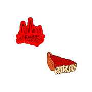 Chicago Pizza & Skyline Lapel Pin Set | Field Museum Store