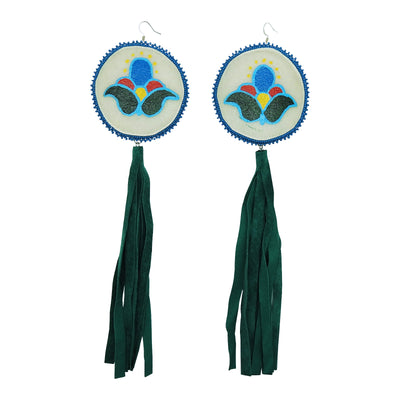 Rawhide Tassel Earrings by Carrie Moran McCleary | Field Museum Store