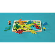Dinosaurs Let's Play 16 Piece Wood Puzzle | Field Museum Store