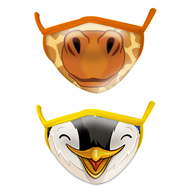 Pre-Order Giraffe and Penguin Face Mask Set | Field Museum Store
