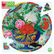 Bouquet & Birds 500 Piece Round Puzzle | Field Museum Store
