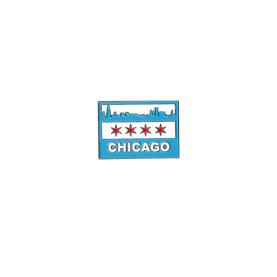 Chicago Skyline Flag Lapel Pin | Field Museum Store