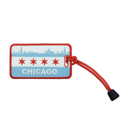 Chicago Skyline Flag Luggage Tag | Field Museum Store
