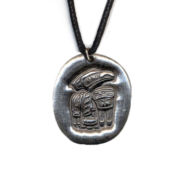 Raven Creativity Pewter Necklace | Field Museum Store