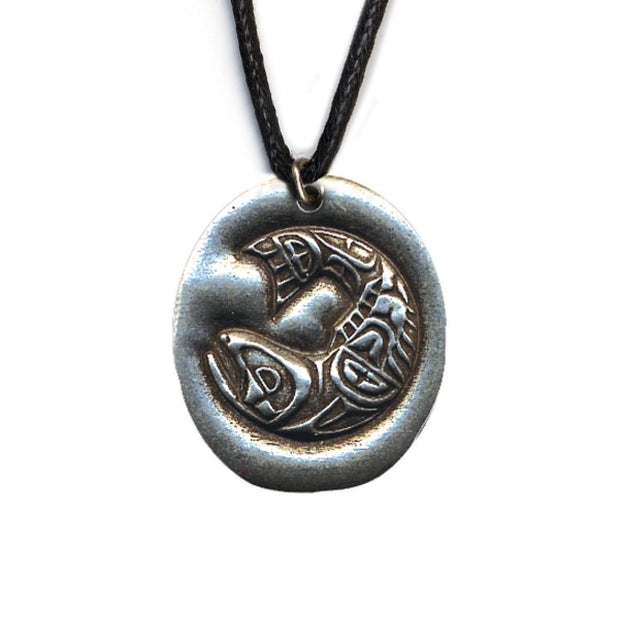 Salmon Determination Pewter Necklace | Field Museum Store