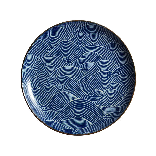Aranami Wave Dinner Plate | Field Museum Store