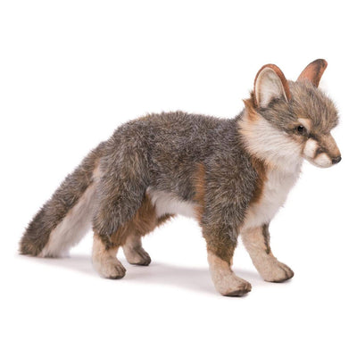 Realistic Grey Fox Plush | Field Museum Store