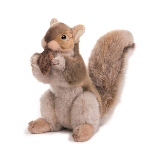 Realistic Brown Squirrel with Nut Plush | Field Museum Store