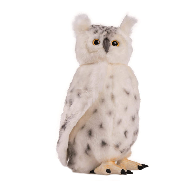 Realistic Snow Owl with Moving Head Plush | Field Museum Store