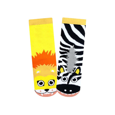 Lion & Zebra Youth Socks | Field Museum Store