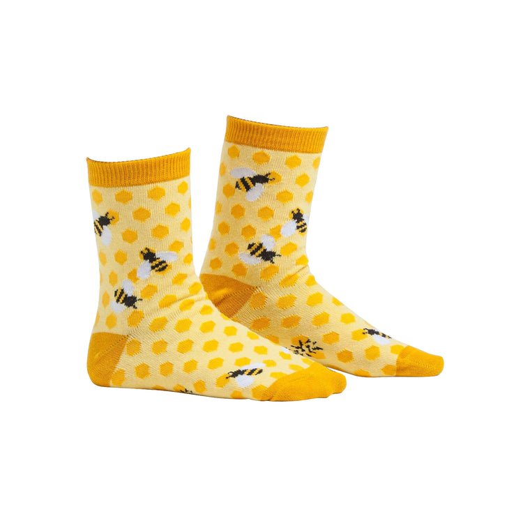 Bees Knees Youth Crew Socks | Field Museum Store