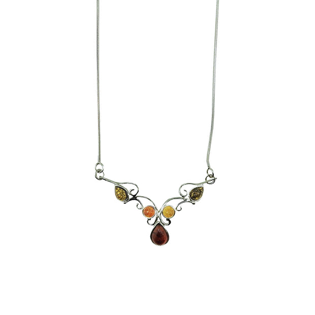 Ornate Multi-Stone Amber Necklace | Field Museum Store