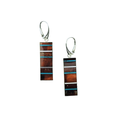 Turquoise & Baltic Amber Drop Earrings | Field Museum Store