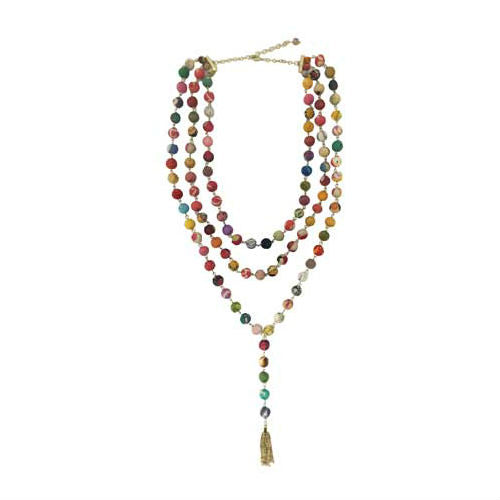Kantha Tiered Y Necklace | Field Museum Store