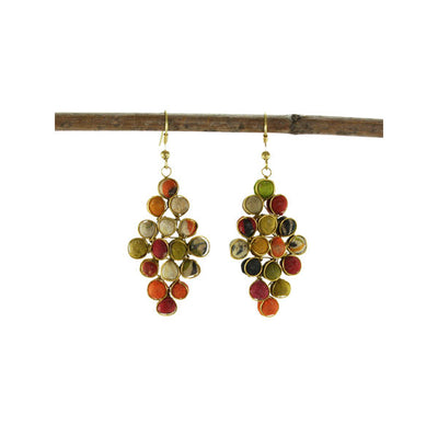 Kantha Diamond Earrings | Field Museum Store