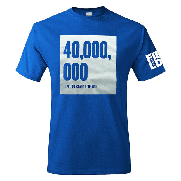 Field Museum 40,000,000 Specimens Adult T-Shirt | Field Museum Store