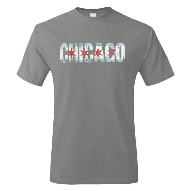 Chicago Flag Letters T-Shirt | Field Museum Store
