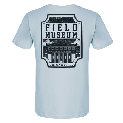Dino Field Museum Badge Adult T-Shirt | Field Museum Store