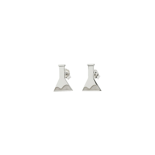 Sterling Silver Flask Stud Earrings | Field Museum Store