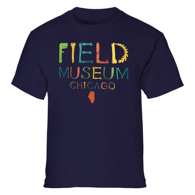 Field Museum Prehistoric Letters Youth T-Shirt | Field Museum Store