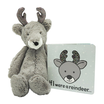 Bashful Glitz Reindeer Plush & Book Bundle | Field Museum Store