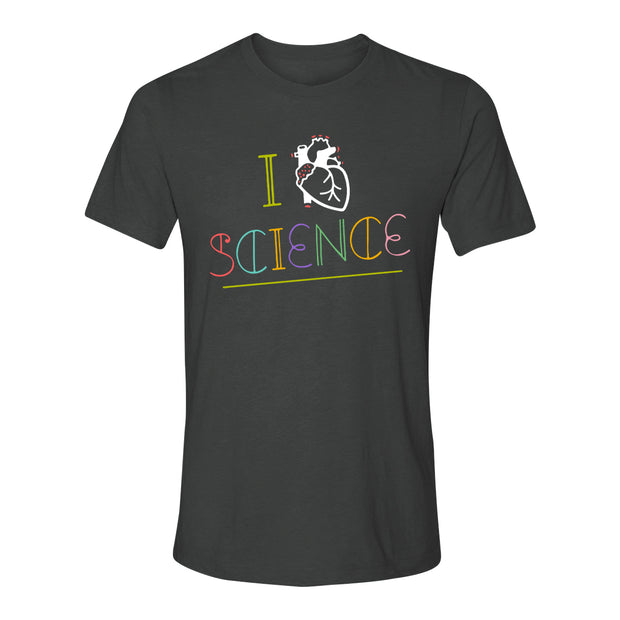 I Heart Science Adult T-Shirt | Field Museum Store