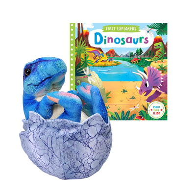 T. rex Hatchling Plush & Board Book Bundle | Field Museum Store