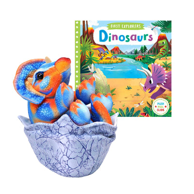 Triceratops Hatchling Plush & Board Book Bundle | Field Museum Store