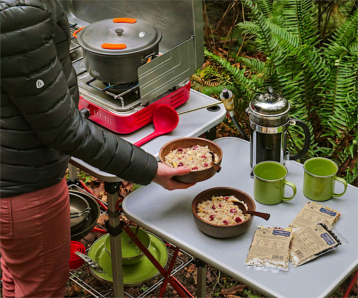 Oatmeal Breakfast Bowls with Campstove