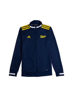 UNSW x Adidas Jacket ladies in navy blue with yellow stripes and logo
