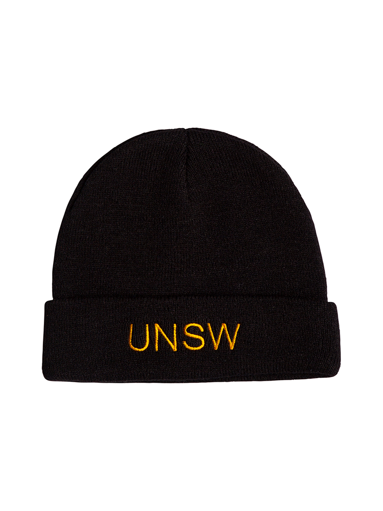 Navy UNSW Beanie Gold Embroidery