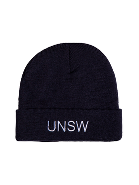 Navy UNSW Beanie White Embroidery