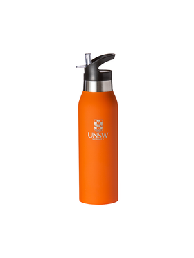 Stainless Steel Bottle with UNSW logo - Orange