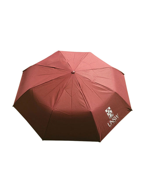 98cm umbrella available in red, blue and grey with the UNSW logo in white - red