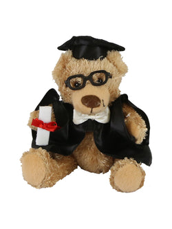13cm UNSW Graduation Bear with gold neck ribbon
