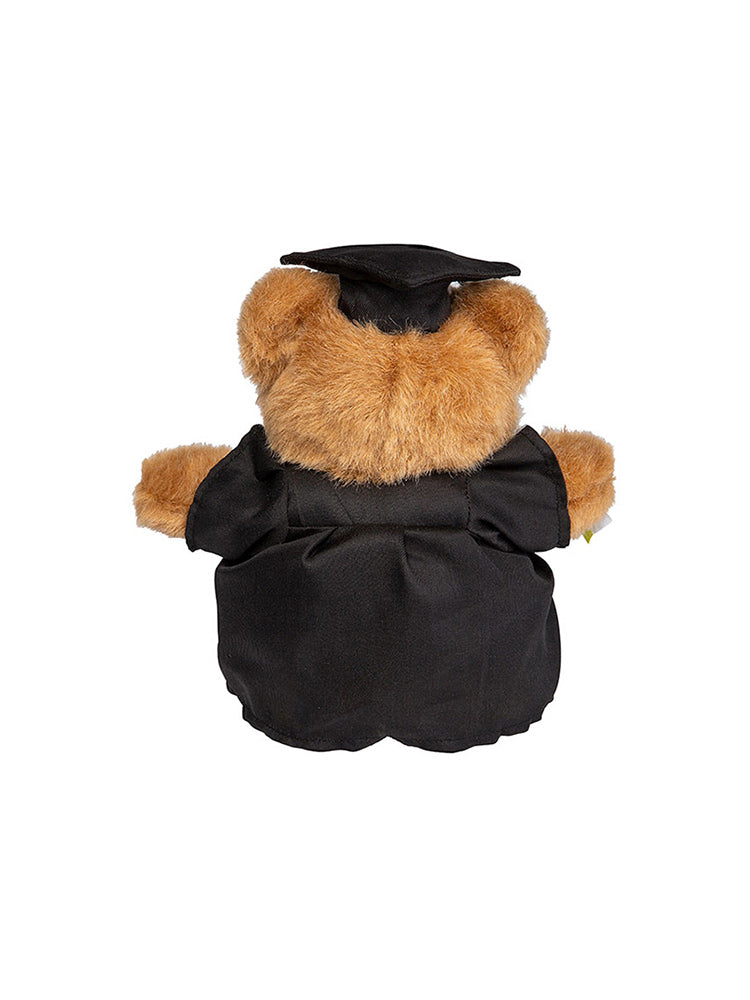 20cm UNSW Graduation Bear with gold neck ribbon - back view