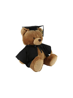 105cm brown braxton bear wearing a graduation gown